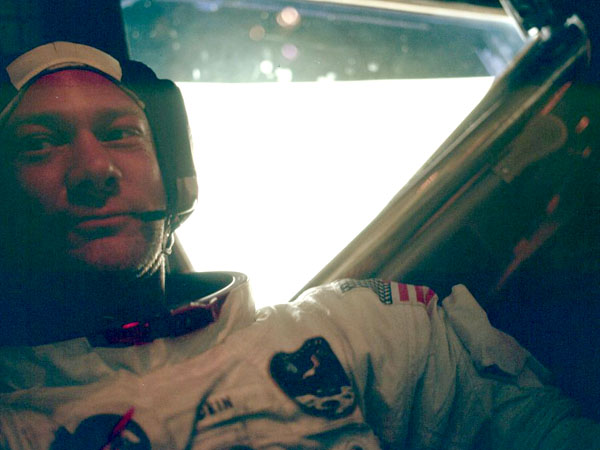 Apollo 11 Aldrin in the LM