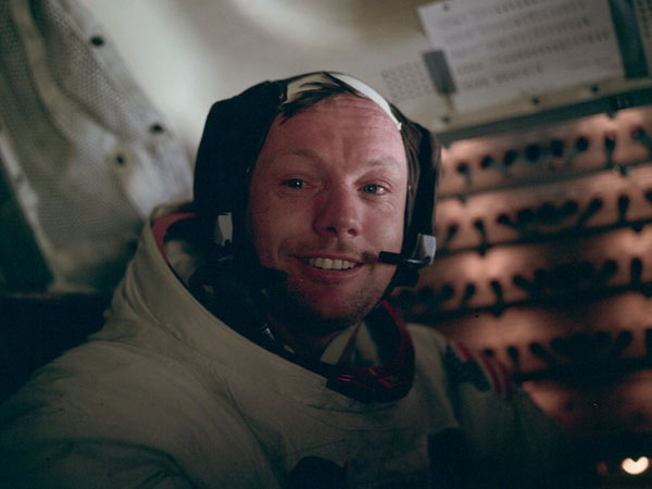 Apollo 11 Armstrong in the LM