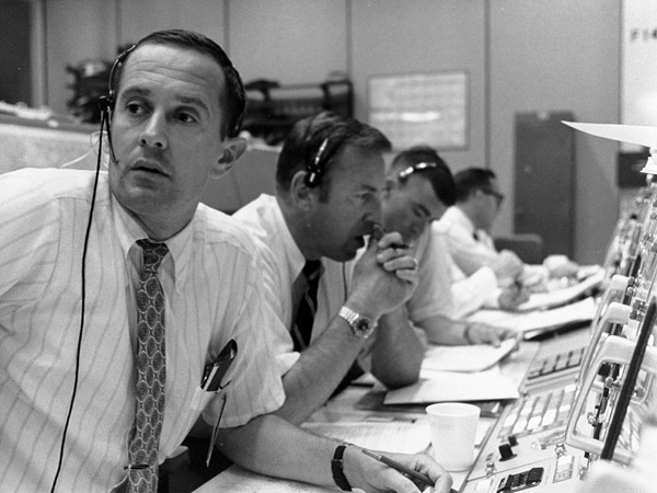 Apollo 11 CAPCOM Charlie Duke along with Jim Lovell