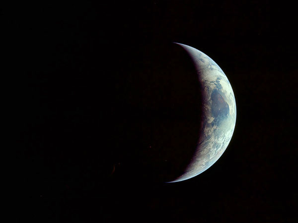 Apollo 11 The Earth gets larger on the return journey