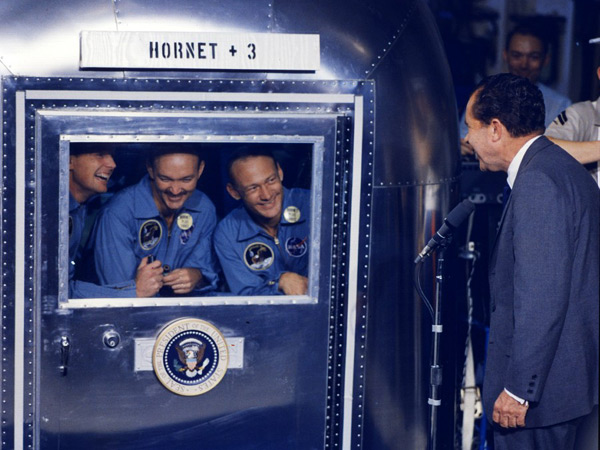 Apollo 11 Crew had to remain in quarantine for 3 weeks