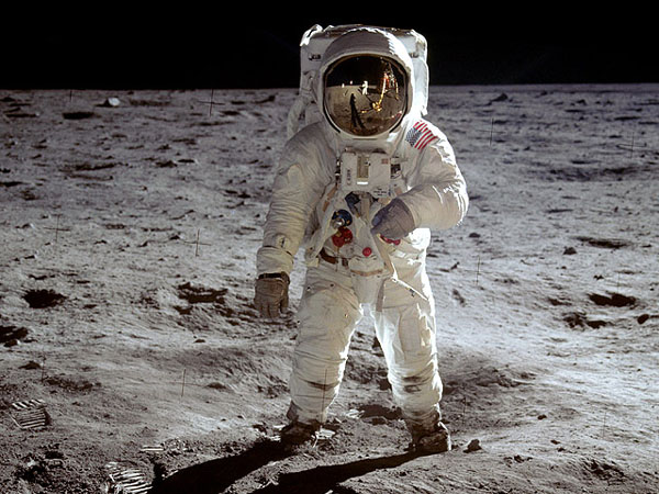 Apollo 11 Aldrin on the moon