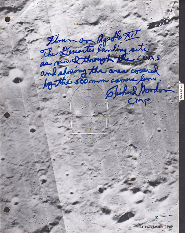Apollo 12 Flown Lunar Landing Site Landmark Maps