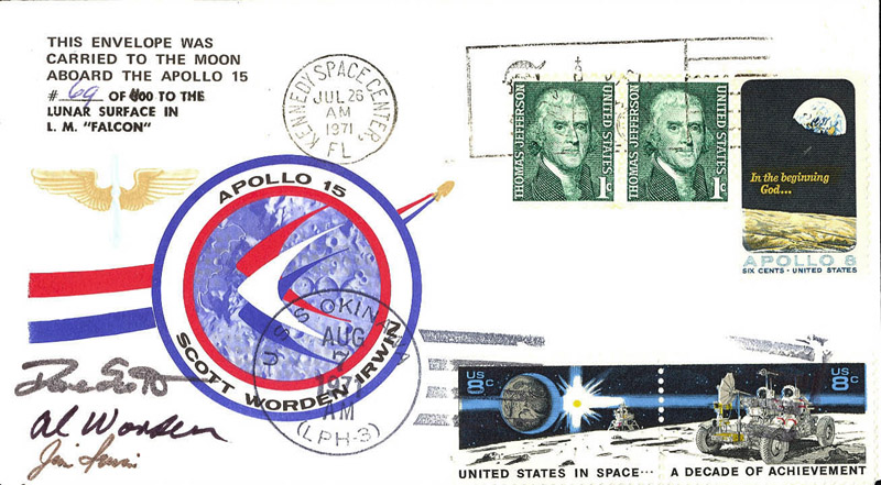 Apollo 15  Flown Cover