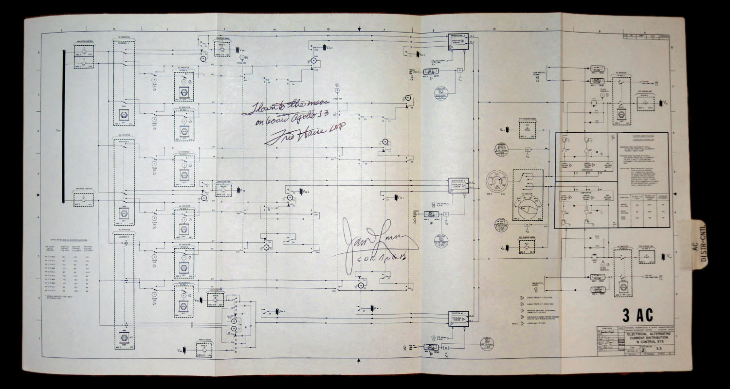 Apollo 13 Flown To The Moon 3 Ac Electrical Schematic Controlled Wiring If You Would Like Buy This Item Email Us