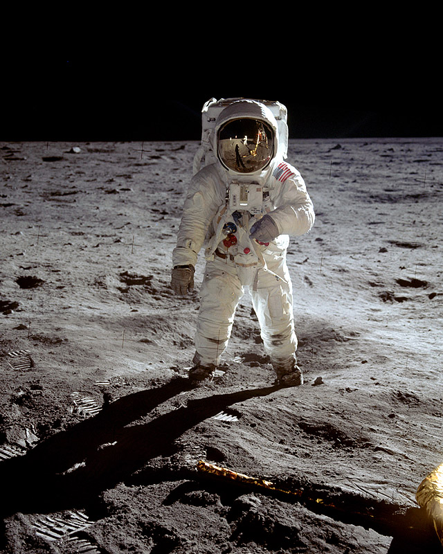 Apollo 11 Photo Buzz Aldrin Visor Shot Photo
