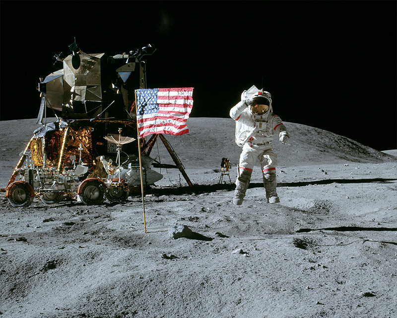 Image result for apollo 16 jumping salute